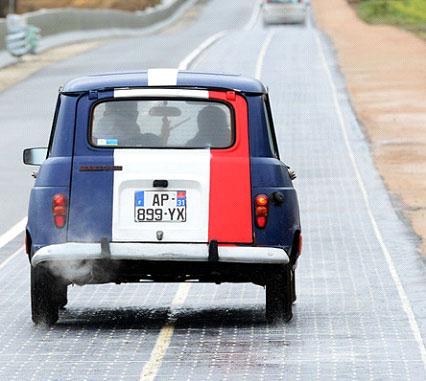 ถนนพลังงานแสงอาทิตย์แห่งแรกของโลก ณ ประเทศฝรั่งเศส
