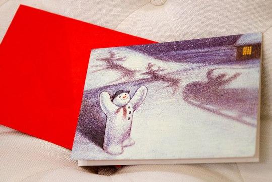 """Da jeg fant disse julekortene i London i august, gledet jeg meg allerede til gjensyn med """"The Snowman""""."""