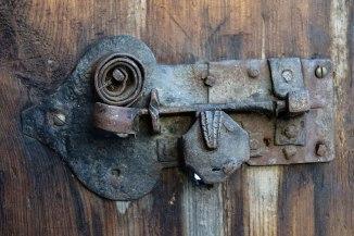 Ikke noe dårlig håndverk på dørklinken til bakstehuset.