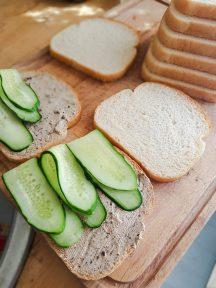 Agurk fra egen hage og hjemmelagd kremost med egenplukket steinsopp; kan det bli bedre?