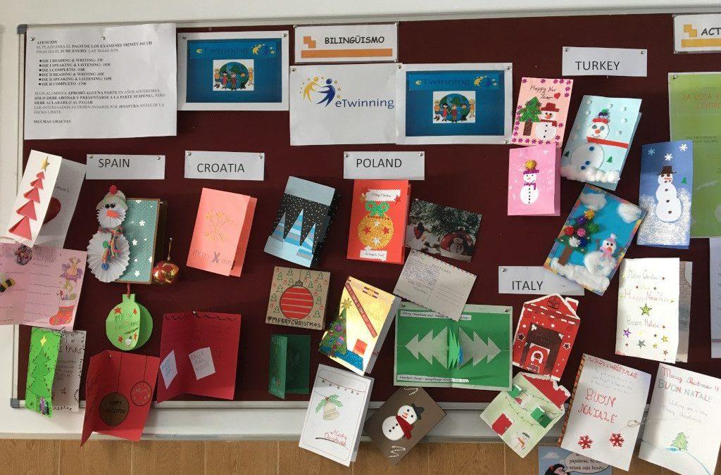 Proyecto Etwinning: Intercambio de postales de Navidad