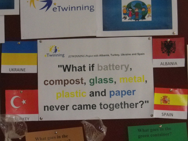 "Etwinning Project: ""What if battery, compost, glass, metal, plastic and paper never came together?"""