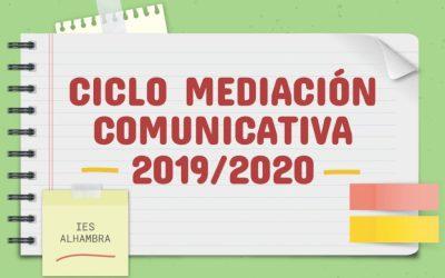 Homenaje CFGS Mediación Comunicativa Curso 2019-2020