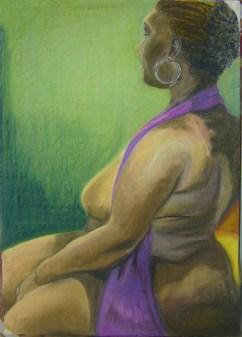 Life drawing - pastels