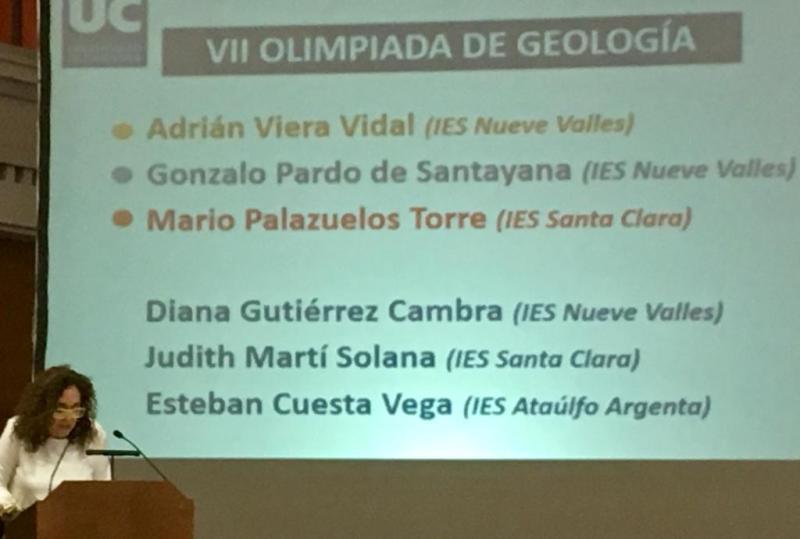 Premios Olimpiada de Geología