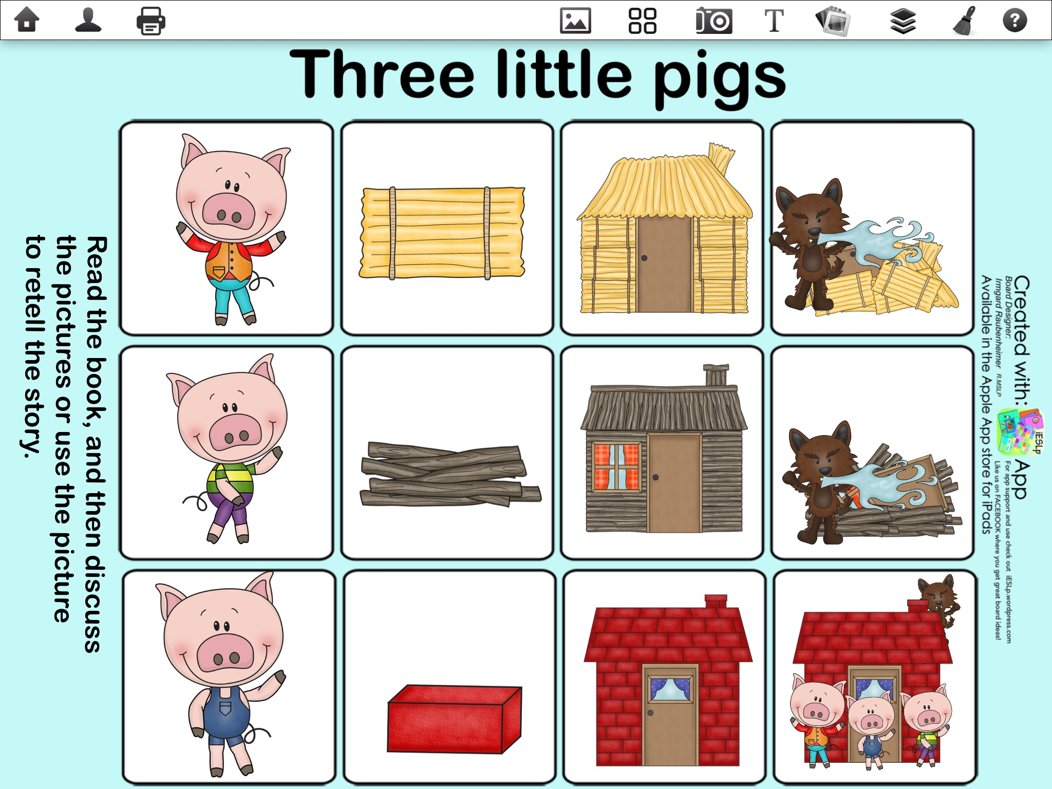 Three Little Pigs Vocabulary Worksheet