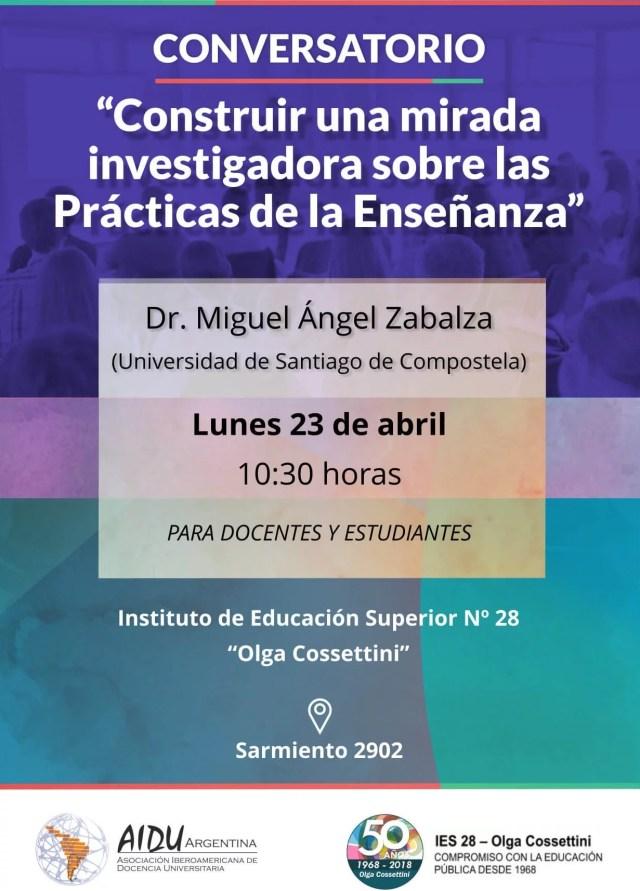 Conversatorio con el Dr. Miguel Ángel Zabalza