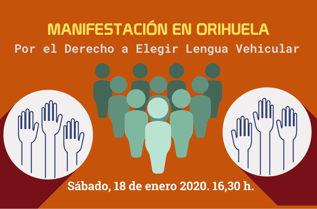 Manifestación por el Derecho a Elegir Lengua Vehicular