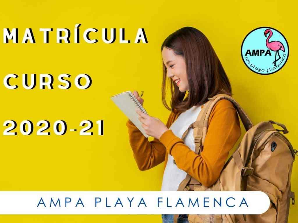 Matrícula curso 2020-21