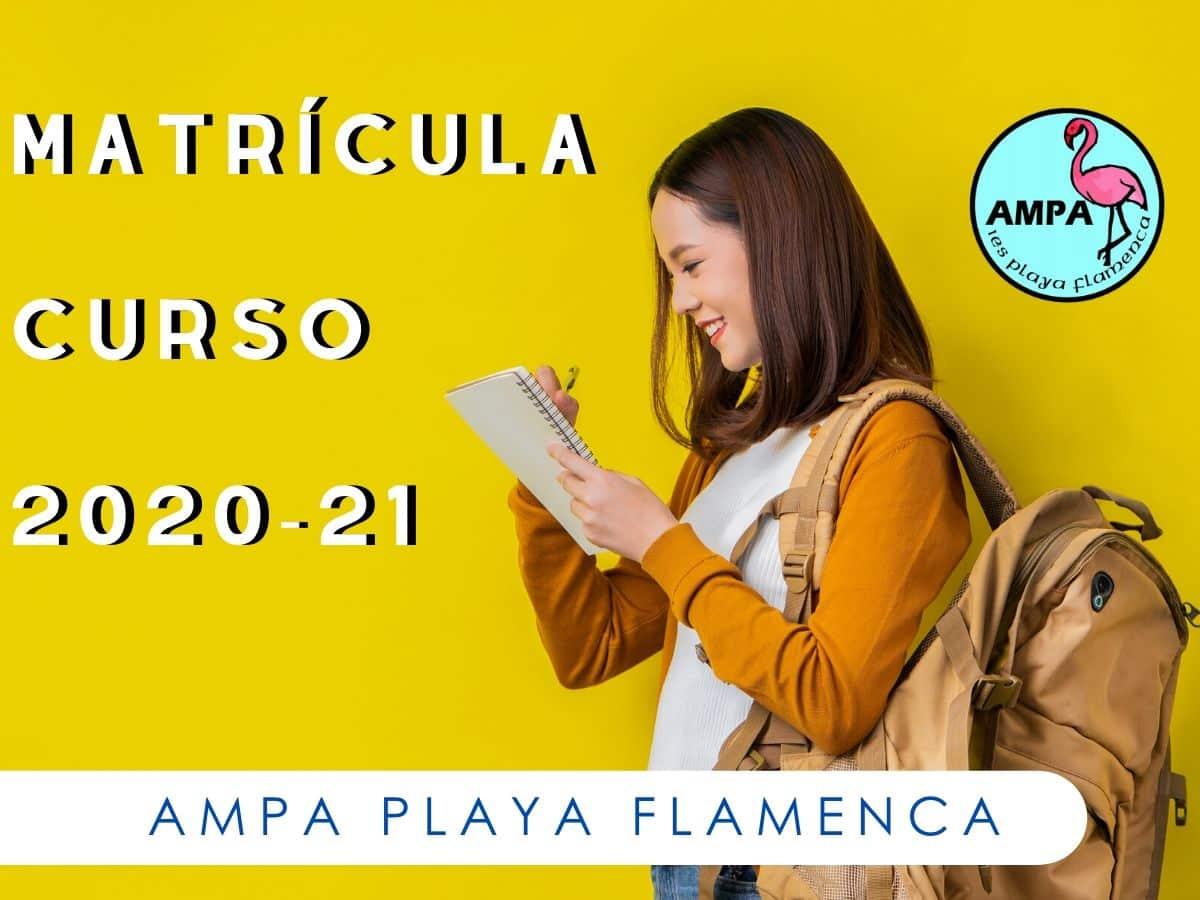 MATRICULACIÓN CURSO 2020-2021