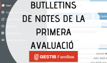 Butlletins notes 1a avaluació