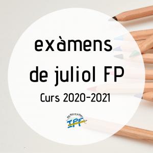 Exàmens de juliol FP
