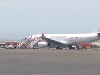 Самолет перегородил ВПП в южном аэропорту Тенерифе
