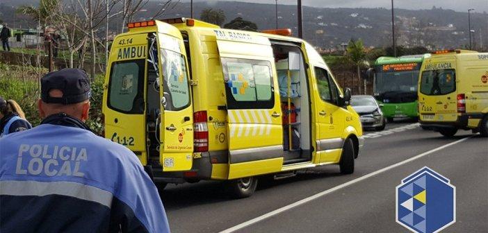 Четверо раненых после дорожно-транспортного происшествия в La Orotava