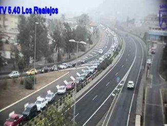 Тенерифе: в Los Realejos возобновился пожар, перекрывали трасса TF-5
