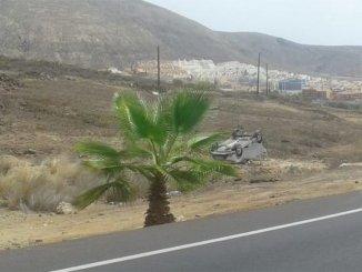 Тенерифе: женщина пострадала при падении авто с дороги в овраг