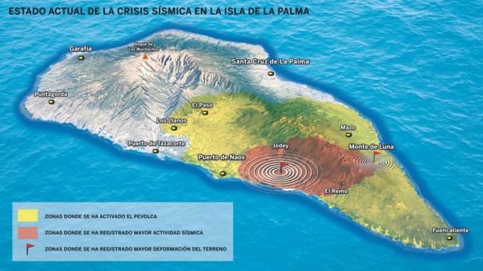 La Palma: магма продолжает искать выход на поверхность острова в районе вулкана