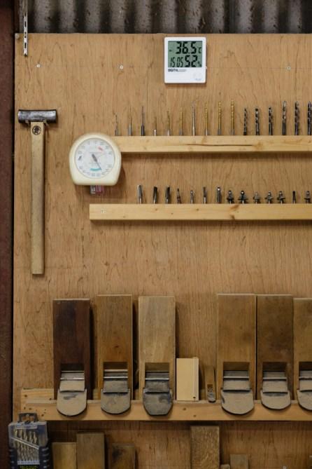 作品が想像できるきれいな道具と収め方です