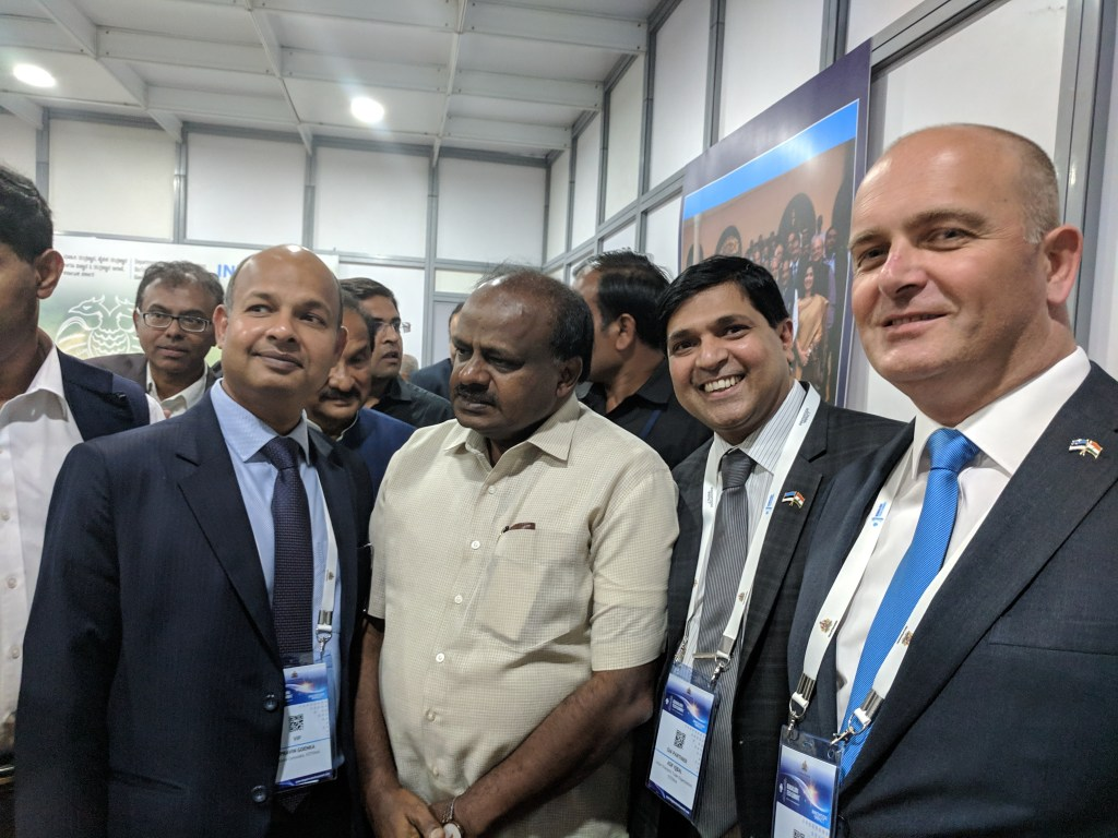 With the Chief Minister of Karnataka HD Kumaraswamy