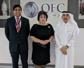 Delegation at the Qatar Financial Centre
