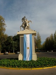 Argentina Statue and Flag