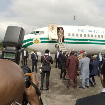 BREAKING: IPOB Out Of Sight As Buhari Lands In Imo