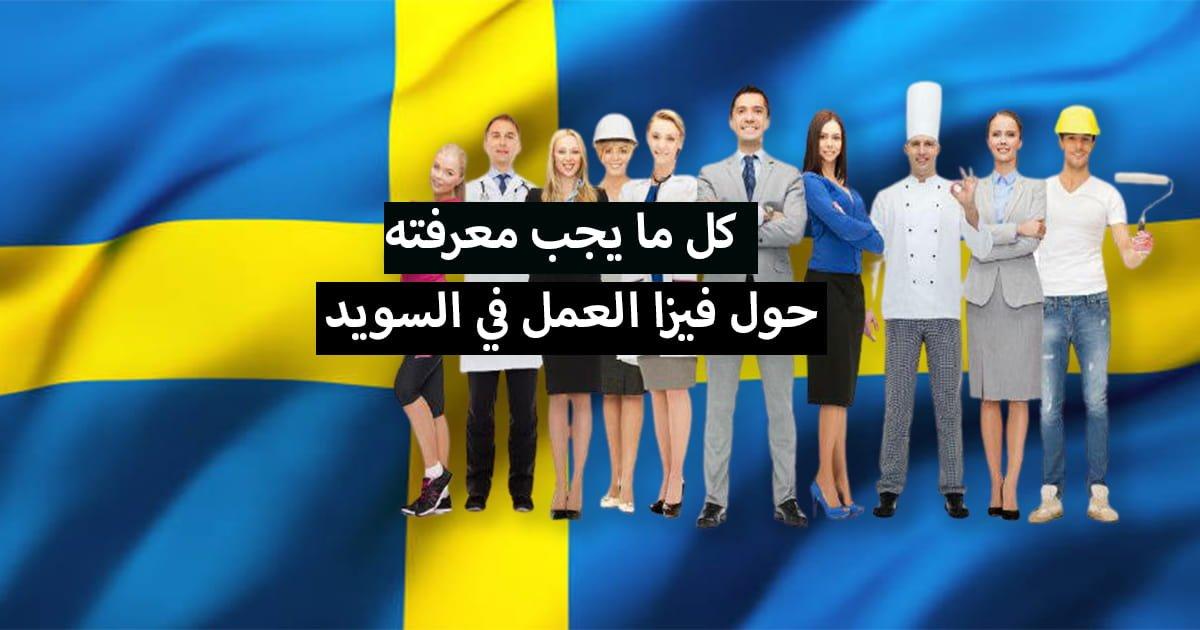 فيزا العمل في السويد ... كل ما يجب معرفته حول هدا الموضوع