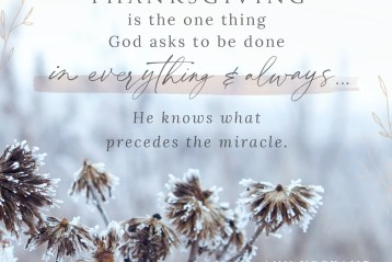 One Thousand Gifts OBS Week 2 — Grace in the Moment