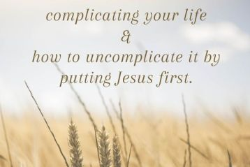 Jesus Over Everything: Putting God First