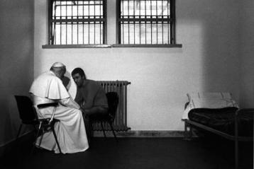 Pope John Paul II visits Agca
