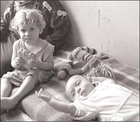 Palestinian child refugees.