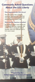 Cover of trifold brochure: Commonly Asked Questions About the USS Liberty