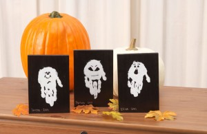 ghost handprint creative halloween craft ideas