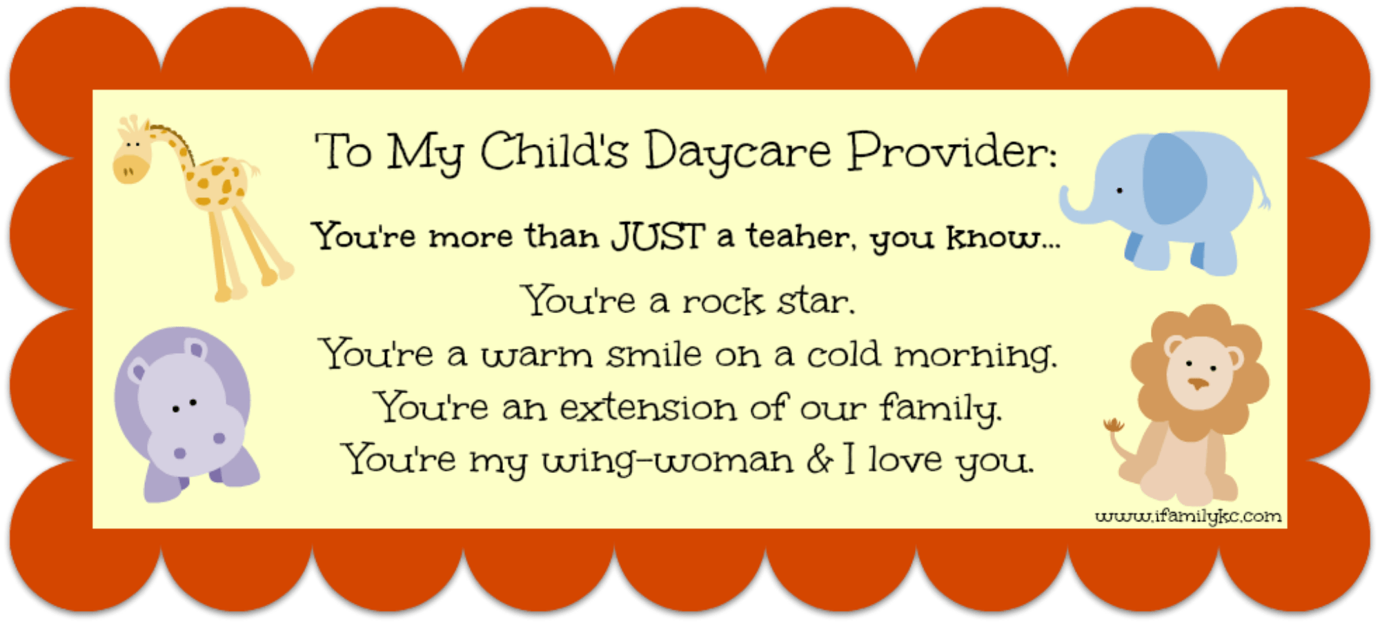 A message for early childhood educators youre more than just a daycare teacher you know negle Gallery