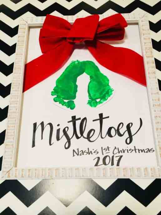 mistletoe keepsake footprints