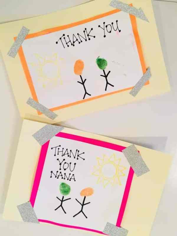 creative thank you notes from kids