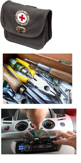 أشياء أساسية في السيارة