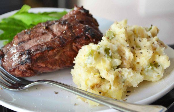 اللحم والبطاطس