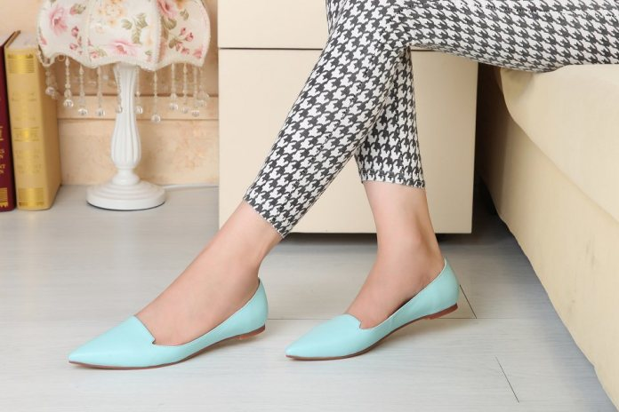 Pointed Toe Elegant Flats Shoes Woman