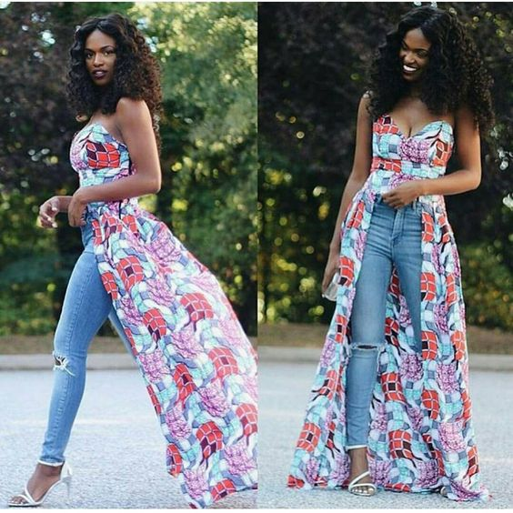 Latest Ankara Tops With Jeans Styles Ifashy