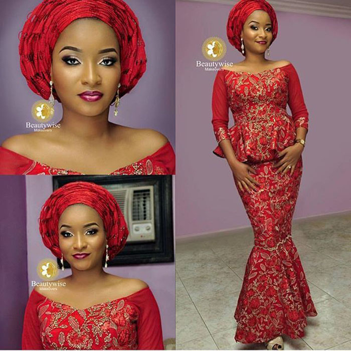 Latest Lace And Ankara Style Combination IFashy