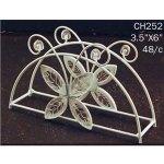 Decorative White Butterfly Napkin Holder Wedding Centerpiece Diy Home Metal Wire On Popscreen