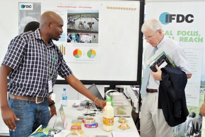 IFDC exhibited products from Eldoville Dairies at the ICIPE Science Day. Eldoville receives technical support from IFDC and external Dutch experts through the 2SCALE project.