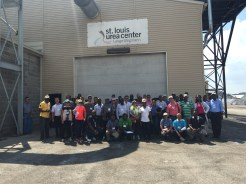 Attendees outside of Lange-Stegmann Company.