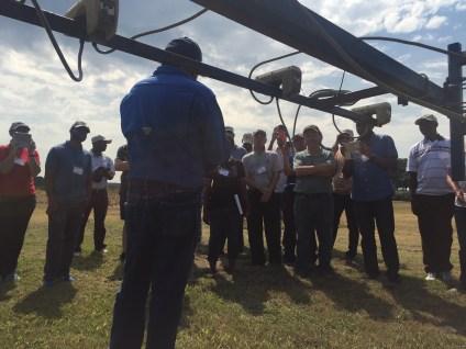 A field visit at the Lon Mann Cotton Research Center, Marianna, Arkansas.