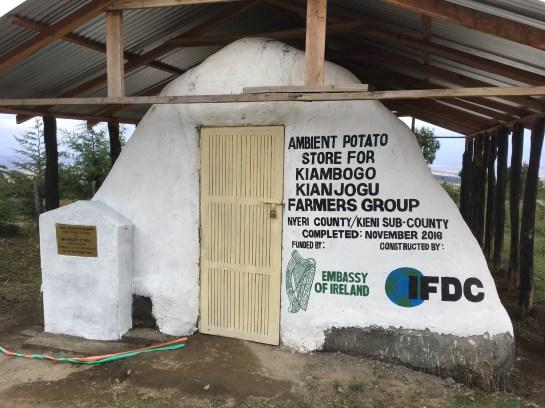 Potato storage facility in Nyeri County, Kenya.