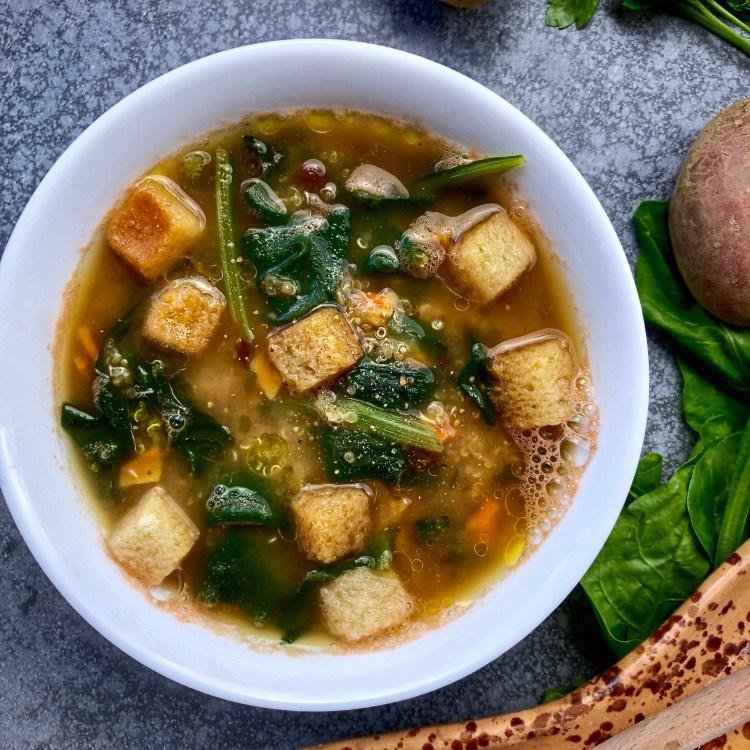 Il dopopasqua e la zuppa detox di patate e bietole