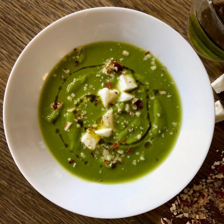 Crema vellutata di broccoli primo sale e mandorle