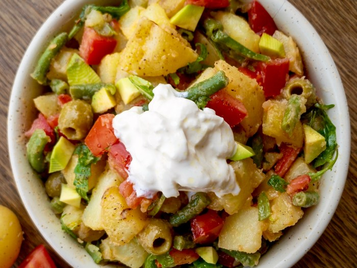 insalata di patate e burrata