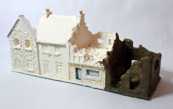 15mm ruined houses